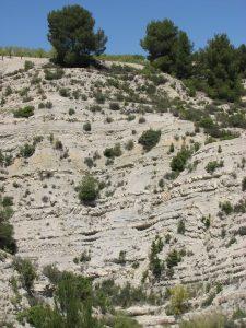 Alternancias de calizas y margas en las Cordilleras Béticas.